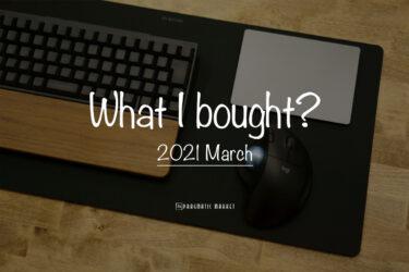 【月刊プラマケ】2021年3月を振り返る|What I bought.